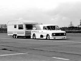 Or instead, go on a quick break. Very quick, in fact. This Transit took the world caravan towing...