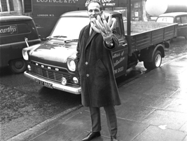 Run a celebrity fruit business. Boxer Henry Cooper and his family used a Transit for their...