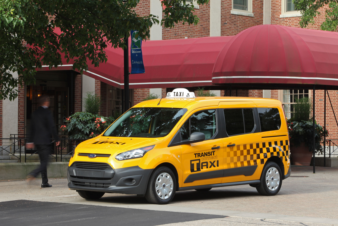The next-generation 2014 Transit Connect Taxi will be available early next year, according to...