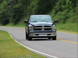 An all-new Ram 1500 powers through the roadsides of rural Tennesse. Source: Lauren Fletcher