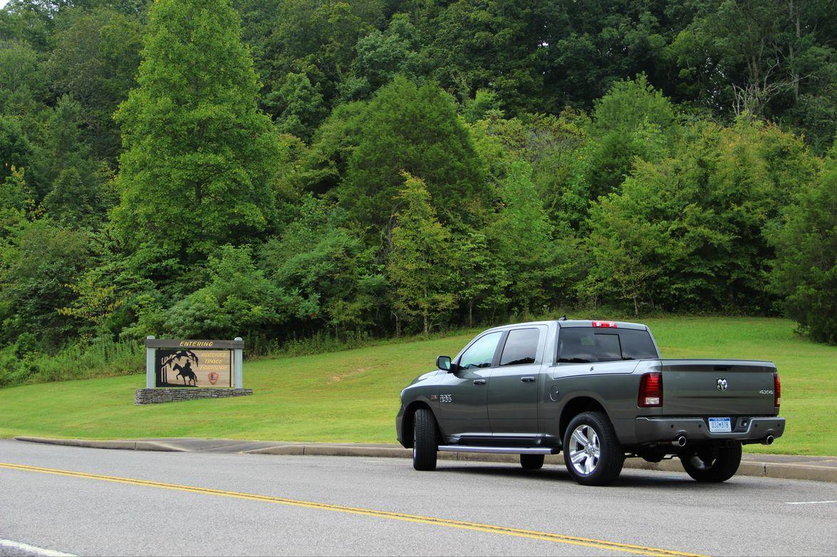 The test-drive took journalists through the scenic Natchez-Trace Parkway.Source: Lauren Fletcher