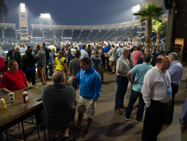 At the end of the first day, attendees were able to network inside San Diego's Petco Park...