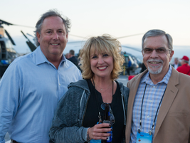 (left) Bryan Taylor, Ford national account manager, (middle) Michele Bartlett and Mike Allison...