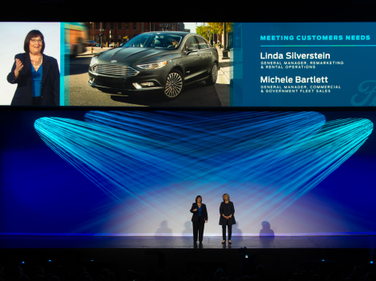 Linda Silverstein, general manager of remarketing and Michele Bartlett, Ford's general manager...
