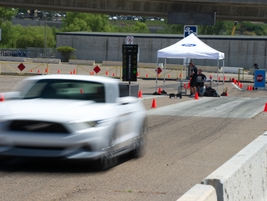 During the Ride & Drive, attendees were able to compete in a head-to-head drag race in 2017...