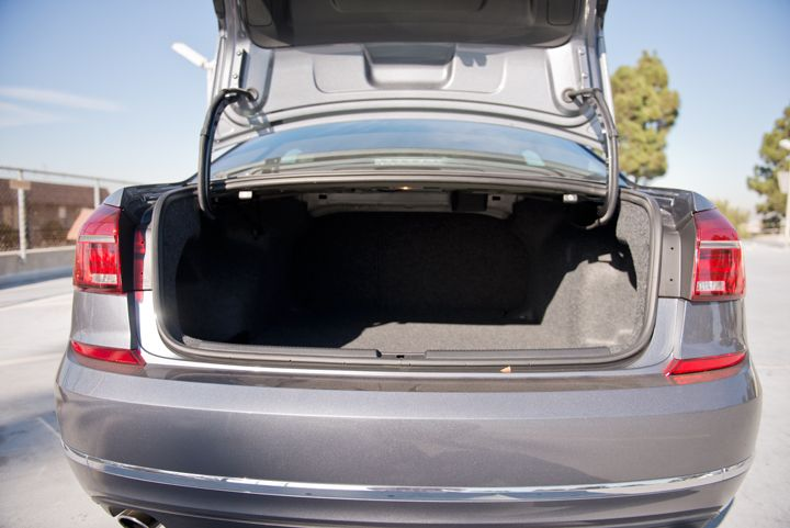 A keyless feature opens the trunk when someone moves a foot near the rear of the vehicle.