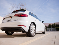 A dual-clutch transmission directs power to the front wheels.