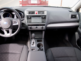 The Legacy's infotainment system displays data on a 6.2-inch touch screen.