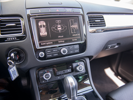 Volkswagen added park distance control to the Driver Assistance Package on Touareg Sport with...