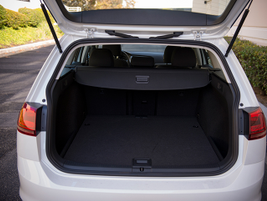 Cargo volume measures 30.4 cubic feet and 66.5 cubic feet with the rear seats folded down.
