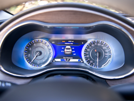 A 7-inch driver information display offers data such as tire inflation levels, fuel economy, and...