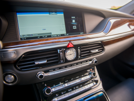 The G90's navigation system displays on a 12.3-inch screen.