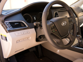 The interior offers a heated steering wheel, ventilated heated/cooling seats, and LED interior...
