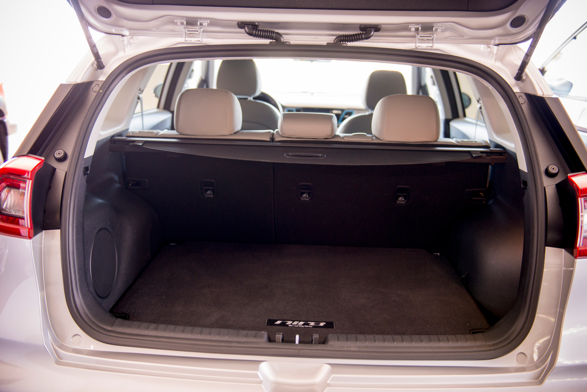 The Niro offers 19.4 cubic feet of storage with the seats up and 54.5 cubic feet with the seats...