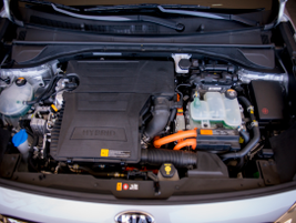 The Niro pairs a 1.6-liter gasoline engine with a 43-hp electric motor.