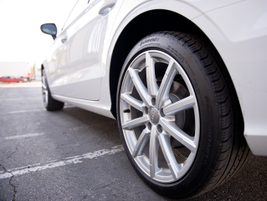The TDI's 18-inch wheels include 225/45 all-season tires.