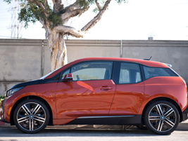 The BMW i3 is 157.4 inches long, 69.9 inches wide, and 62.1 inches tall.