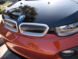 """The i3 gets BMW's trandmark """"kidney grille"""" design without air intake vents."""