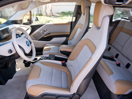 The base model i3 interior uses SensaTec vinyl and sustainable cloth sourced from recycled...