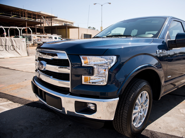 Ford's 2015 F-150 is available with a new 2.7L EcoBoost engine in the Lariat mid-range trim level.