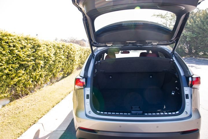 The NX offers up to 54.6 cubic feet of cargo space that's accessible via an available power...
