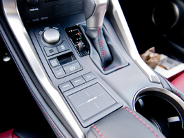 Vehicle mode controls for Eco, Normal, or Sport are nestled between the shifter and electronic...