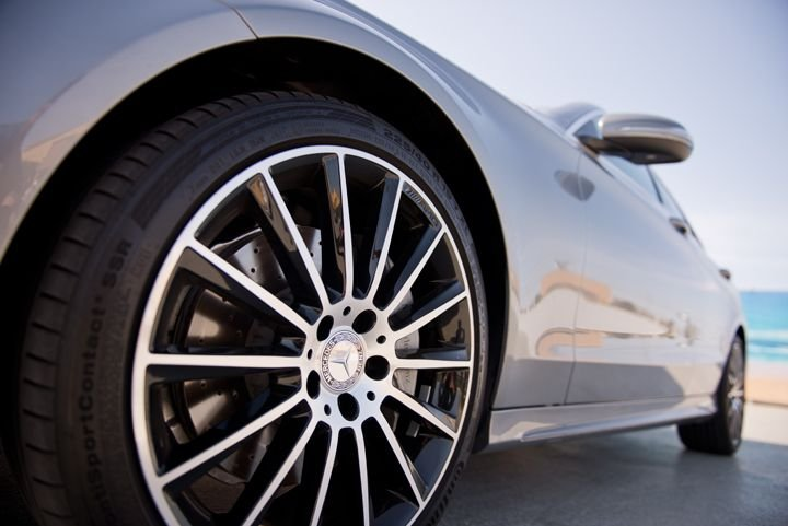 This model gets standard 18-inch AMG wheels.