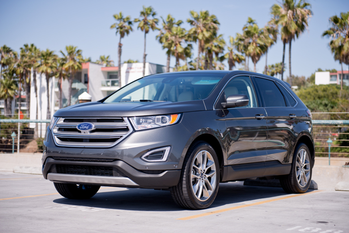 The 2015 Edge features three different engine options, including a standard 2.0L EcoBoost...