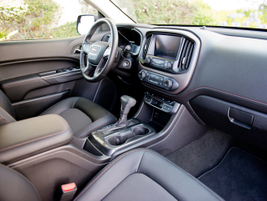 The cab gives drivers plenty of ergonomic features to enhance comfort.