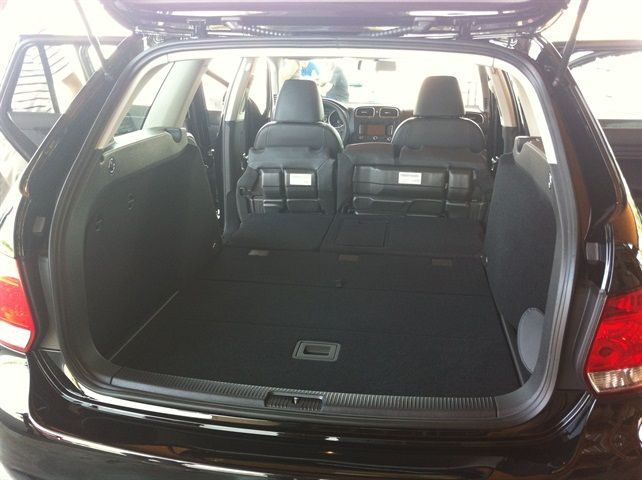 The VW Jetta Sportwagen offers 66.9 cubic feet of space with the rear seats folded flat.