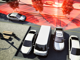 Rear cross traffic alert, available on the 2014 S60 and XC60, detects oncoming traffic behind...