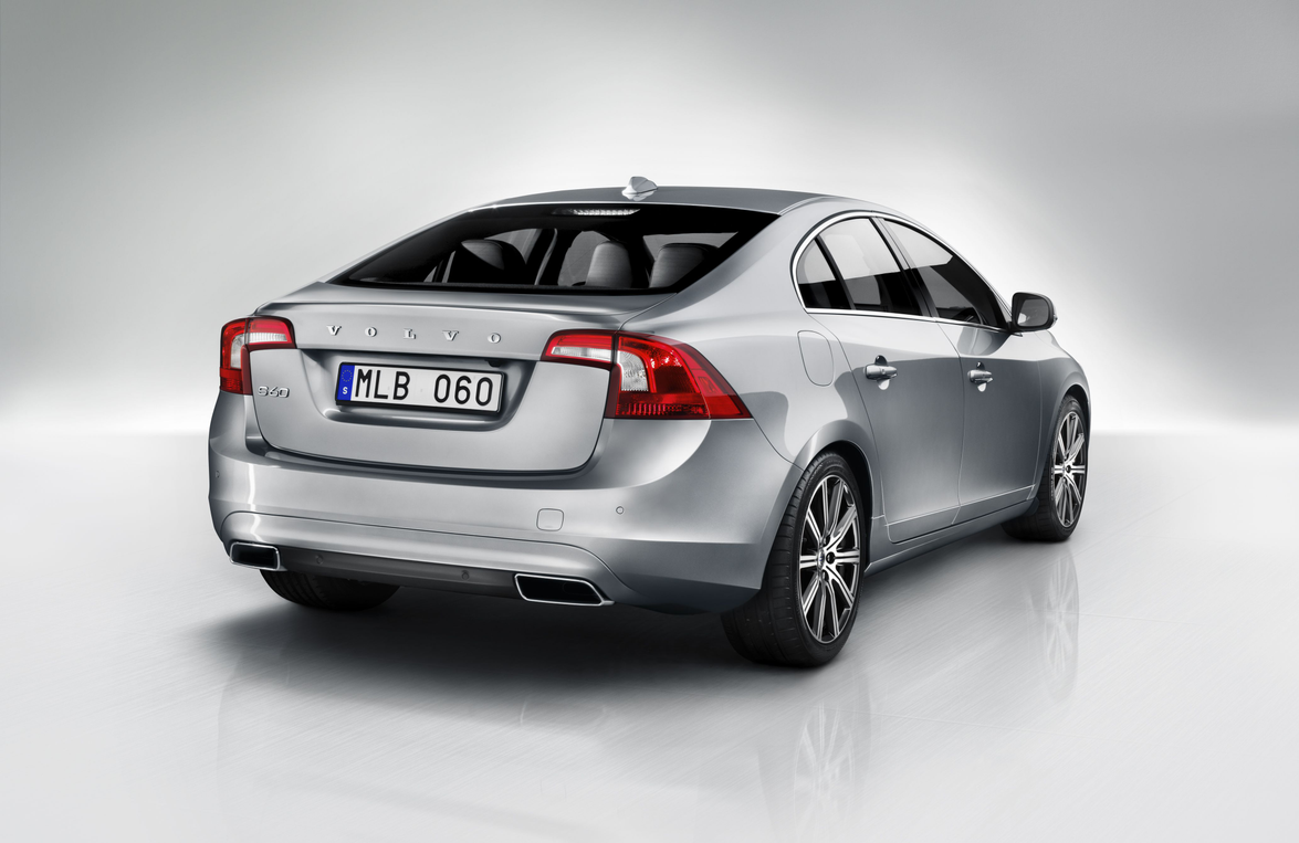 An integrated spoiler is a new feature on the Volvo S60.Photo courtesy Volvo Cars North America.