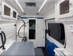 Wag'n Tails Mobile Conversions in Granger, Indiana, converts Ford Transit vans into fully...