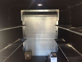 The cargo space measures 450 cubic feet, and flat floors make it easy to roll carts on and off.