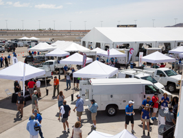 Several fleet management related tents, as well as upfitters and other vendors, were open during...
