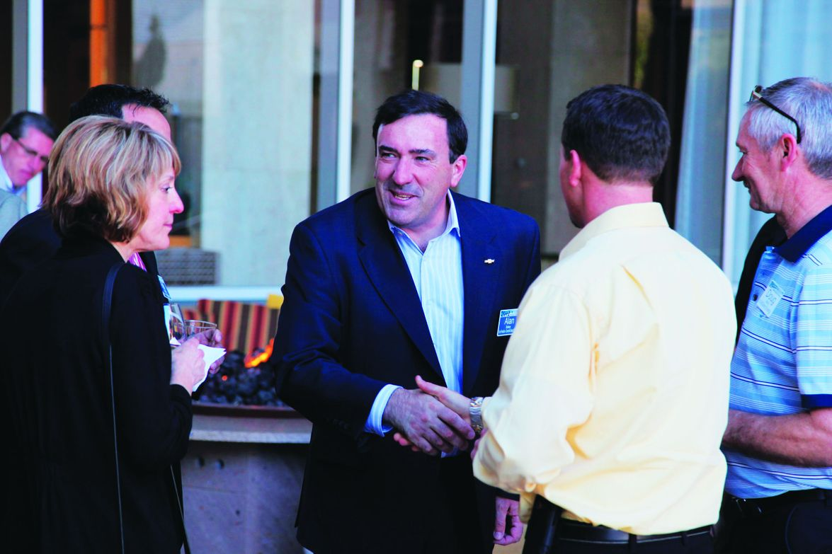 Alan Batey, VP, Chevrolet sales & service, was on-hand to talk with fleet customers.