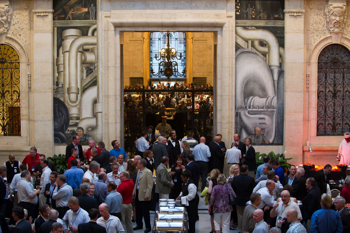 The business meeting and reception at the event was held at the Detroit Institute of the Arts.