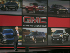 Phil Brook, vice president,Marketing — Buick & GMC,during a GMC presentationat the Solutions...