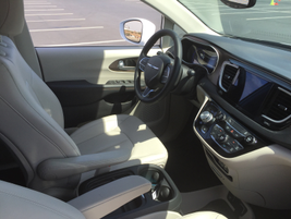 The cabin offers upgrades from the company's current minivan models.