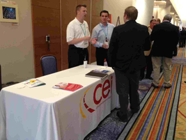 The CEI Group's table at the 2012 Fleet Safety Conference.