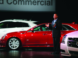 Don Butler, marketing VP for Cadillac, reviewed the brand's offerings for 2012.