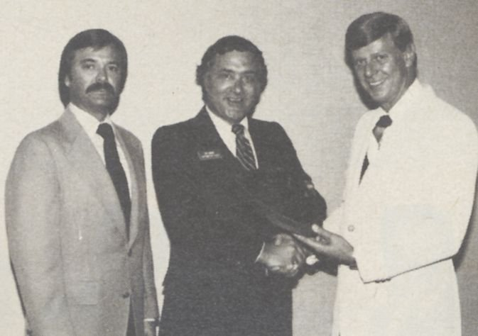 At an awards ceremony in 1980.