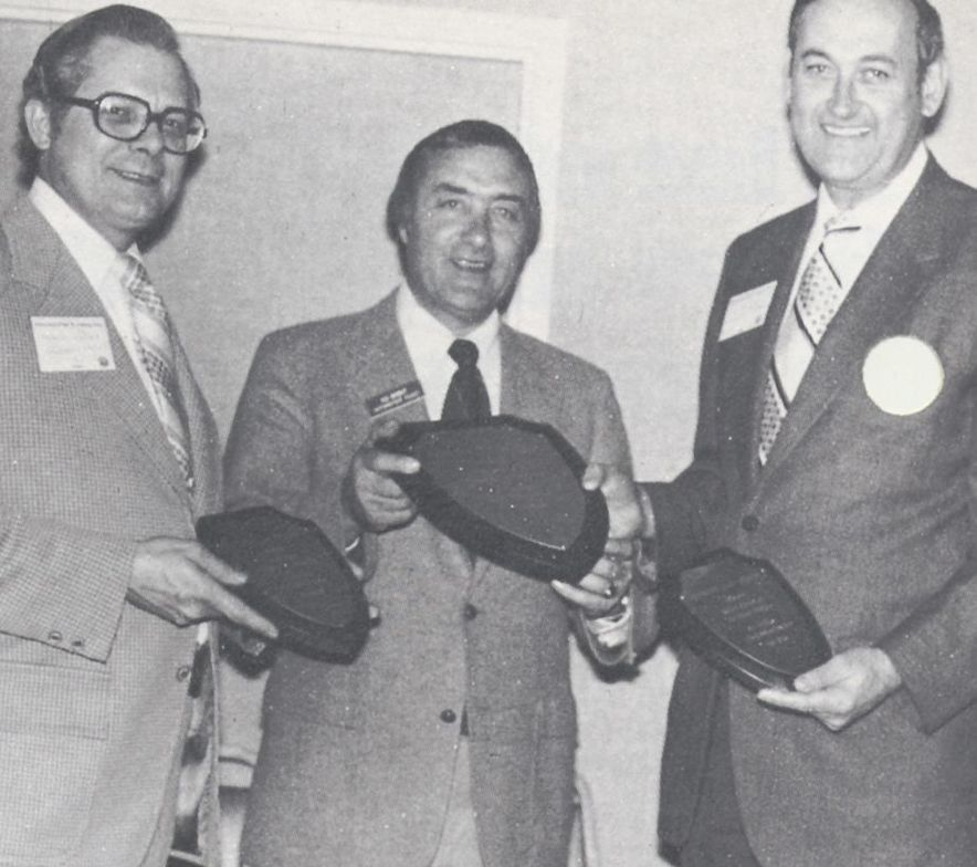 At an awards ceremony in 1977.