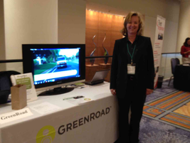 GreenRoad's table at the event.