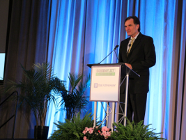 Keynote speaker Mark Smith from the Department of Energy's Clean Cities' Program opened the...