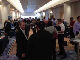 One of the networking breaks at the 2012 Fleet Safety Conference.