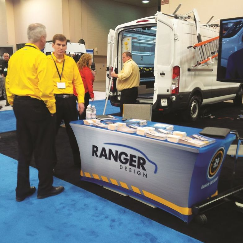 Ranger Design showcased an upfit 2015 Transit in its booth.