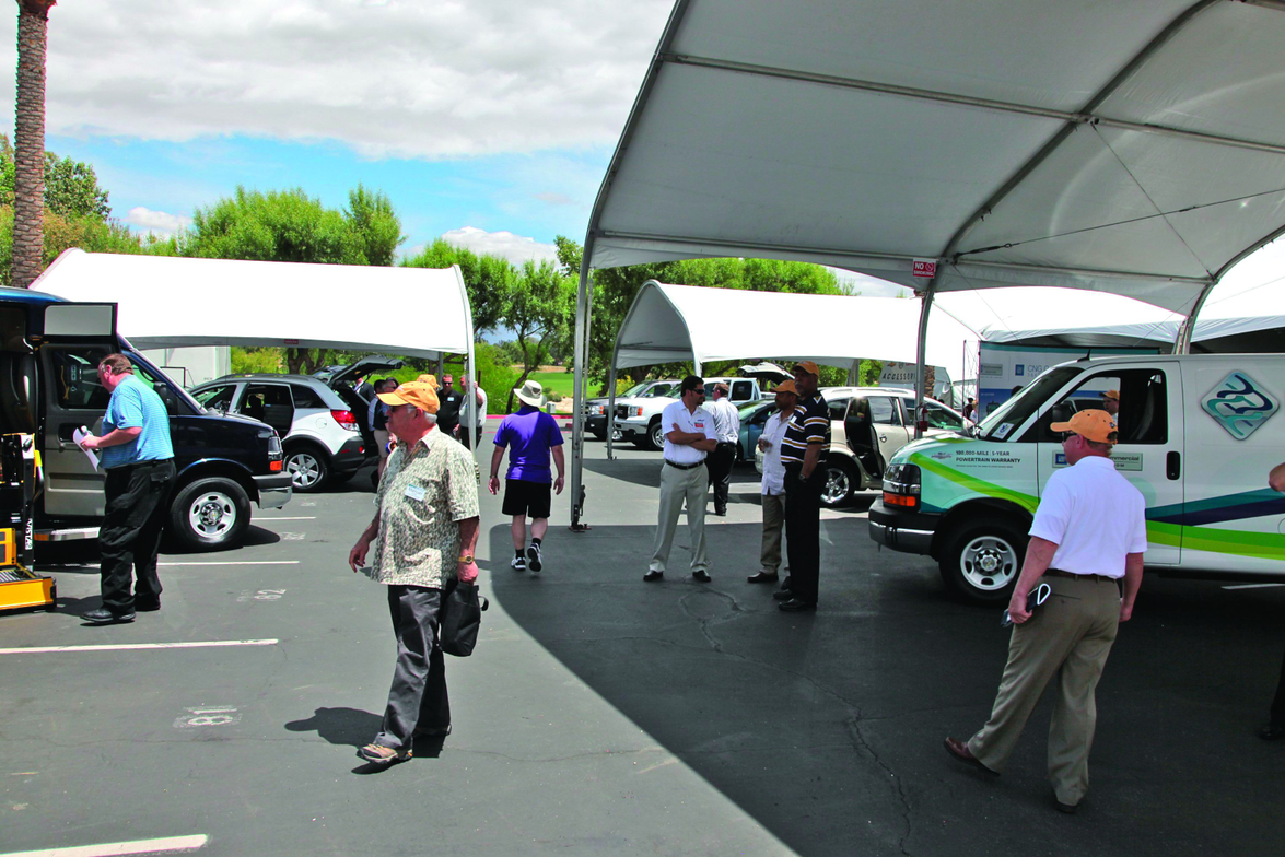 A large number of vehicles were available for attendees to take for a spin during the events...