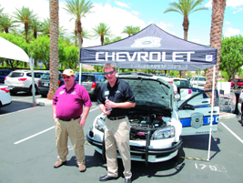Dana Hammer (right), marketing & product manager, law enforcement showed attendees the all-new...