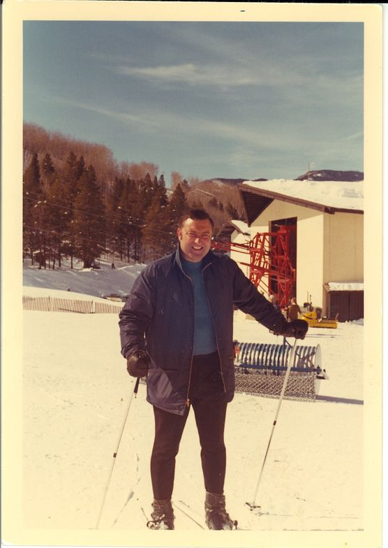 Skiing in Vail, CO. circa 1960.